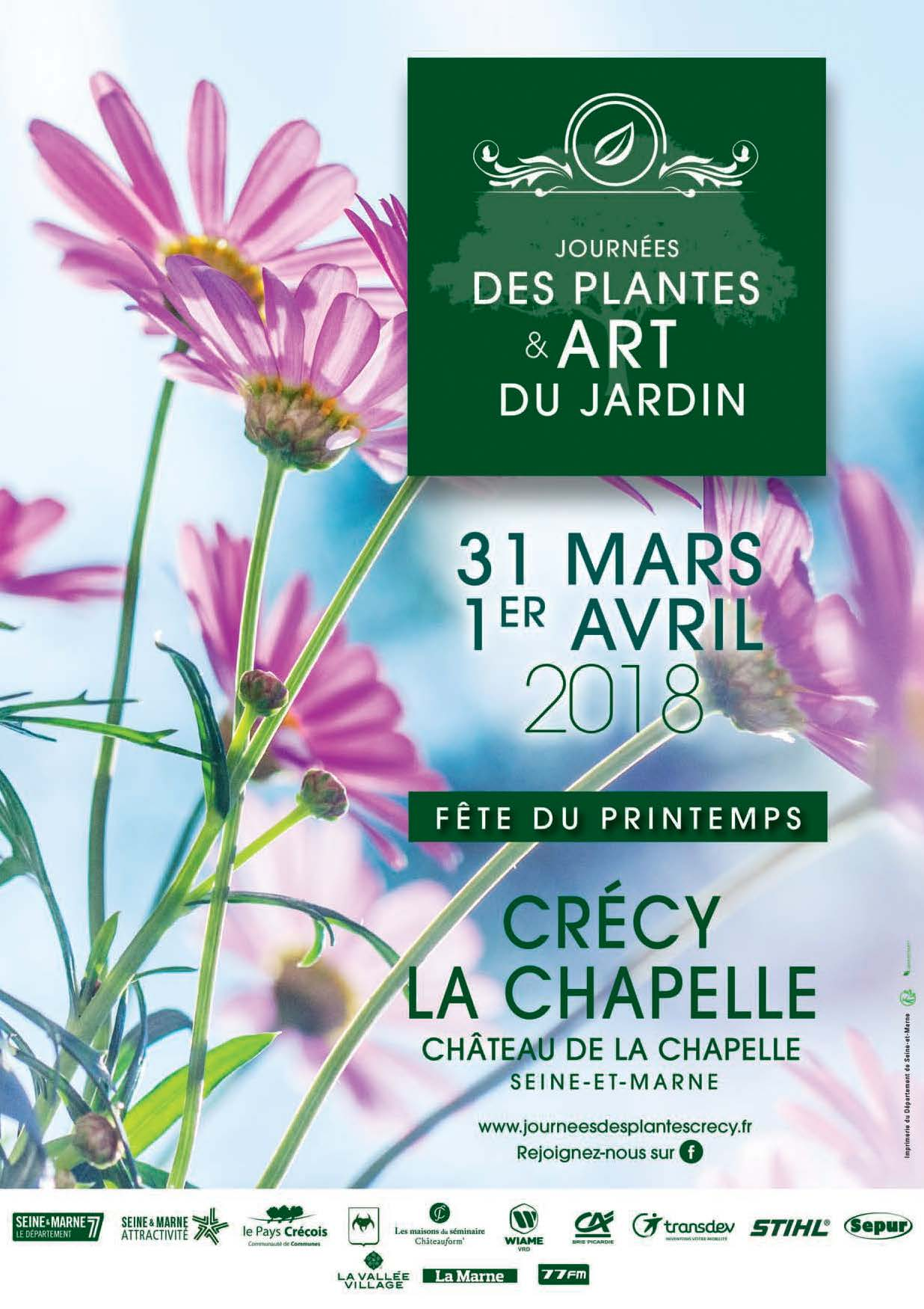 Affiche journée de plantes crecy la chapelle 2018